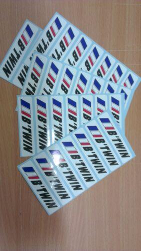 20 Stickers Autocollants nom texte personnalisé drapeau France vélo cadre course