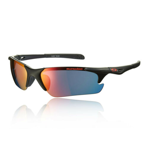 Sunwise Mens Twister MK1 Black Sunglasses Sports Running Outdoors Lightweight