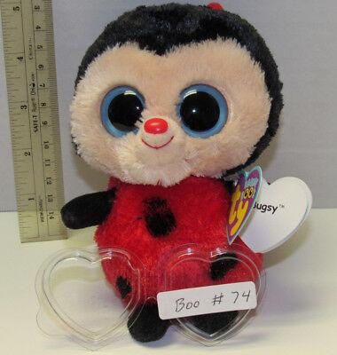 NEW MWMT 6 Inch Ty Beanie Boos ~ BUGSY the Ladybug