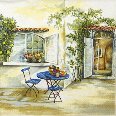 4x Paper Napkins for Decoupage Craft Vintage Tuscan Feelings
