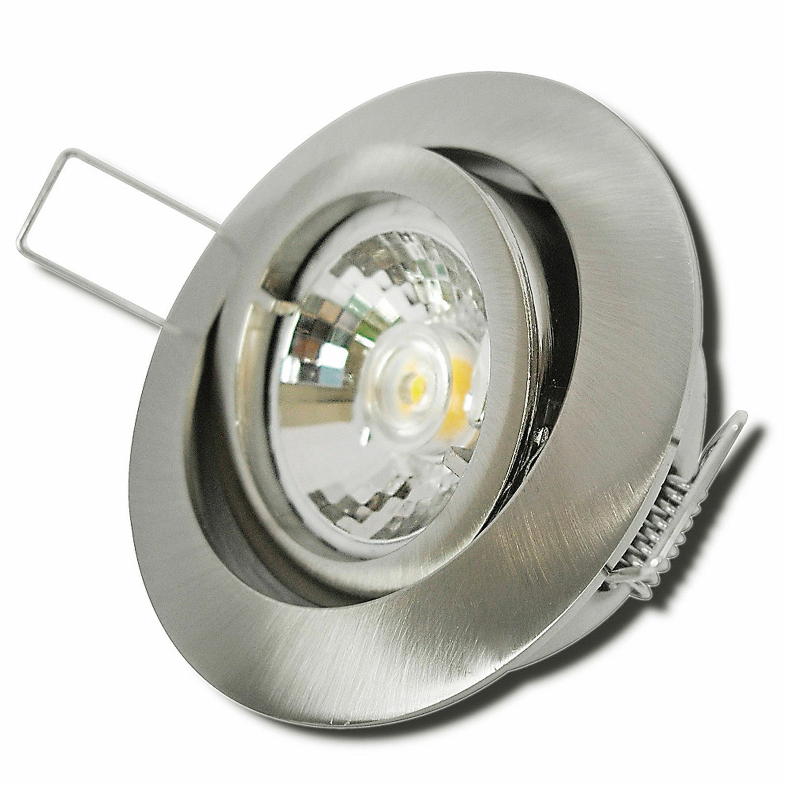 1er- 10er Sets 7W COB Power LED Einbaustrahler Timo   220V   EEK A+   Alu   IP20