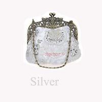 Sequins Pearl Beaded Handmade Gorgeous Bag Party Wedding Evening Clutch Handbags