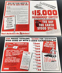 THE DAY THE EARTH STOOD STILL__Original 1951 Trade AD / campaign promo / poster