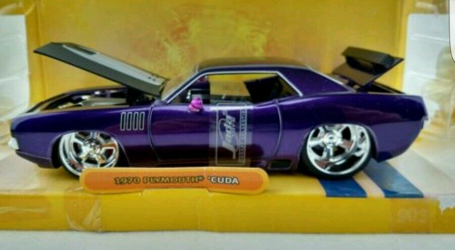 1 24 Dub City 1970 Plymouth Cuda Bigtime Muscle.(Candy lila) -METAL-NEW IN BOX