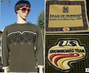 RARE-vintage-DALE-OF-NORWAY-norwegian-wool-sweater-US-SNOWBOARD-TEAM-men-S
