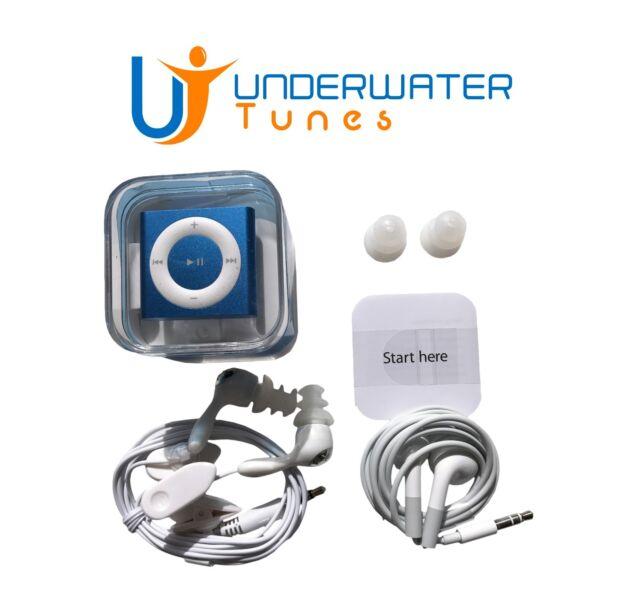 Apple iPod Shuffle MP3 SWIM Bundle w/ Buds & FREE Swim-Cap 100% WATERPROOF