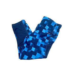 Womens Champion Powertrain Leggings Blue Geometric Design Gym Athletic Euc 2778 Ebay