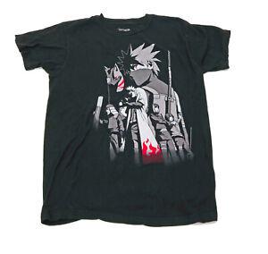 Shomen-Jump-Narvto-Shippuden-Black-T-Shirt-US-M