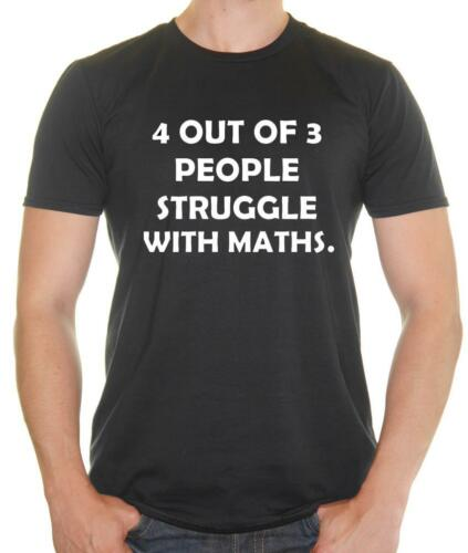 /'4 out of 3 people struggle with Math/' Geek funny T-shirt Mens Funny T-Shirt