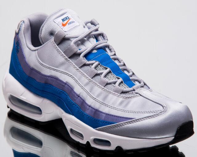 0b1dc697686 Nike Air Max 95 SE Blue Nebula Men New Wolf Grey Lifestyle Sneakers  AJ2018-001