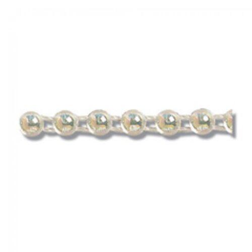 P Impex Round Flat Back Plastic Bead Trimming EG470A-M per 25 metre roll