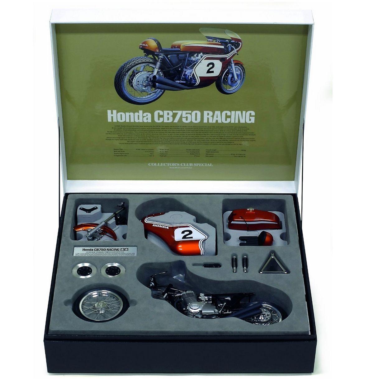 TAMIYA 1  6 Honda CB750 tävlings semi -sammansatta modellllerler 23210 samlaor No.10