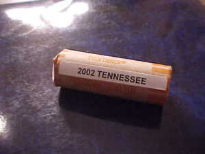2002 D Tennessee Head//Tail Uncirculated Statehood Quarter Roll One Roll