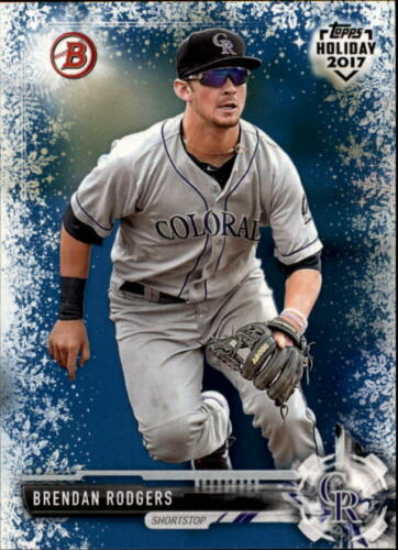 2017 Bowman Topps Holiday Blue Snowflake Singles #/'d//50 Pick Your Cards