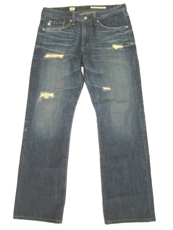 Adriano goldschmied AG jeans Predege straight leg 6 Year Ripped AGed sz 31