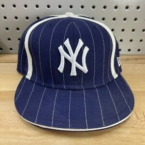 New-York-Yankees-MLB-New-Era-59FIFTY-Fitted-Sz-7-3-8-Pinstripe-Hat-Baseball-Cap