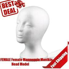 Female Styrofoam Mannequin Manikin Head Model Foam Wig Hair Glasses Display ZR