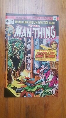 Vf 1975 Condition White Pages Horror Pure Whiteness Marvel Comics The Man Thing #15 Vol 1