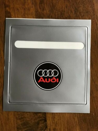FITS AUDI TAX DISC PARKING PERMIT HOLDER RED S z