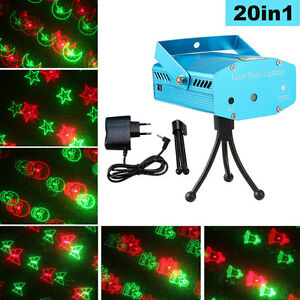 HOT 20 in1 Mini LED R&G Projector Solmore Laser Stage Light Party Disco KTV Lamp