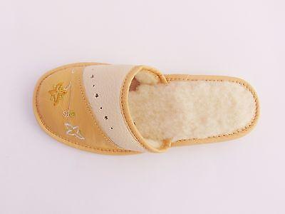 Señoras Zapatillas de Cuero Real calentado * producto hecho a mano de la UE * Tamaño 3,4,5,6,7,8