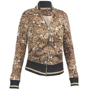 Track Jacket Sweat Top Puma Womens Printed Bomber Leopard Black shtxQrdC