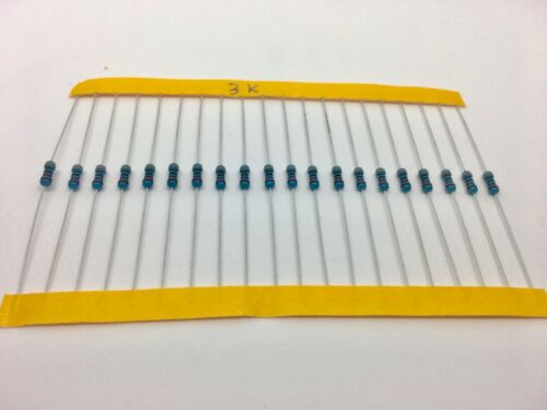 20 X 3K Metal film resistor 1/% tolerance 1//4W