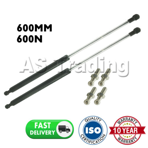 2X UNIVERSAL GAS STRUTS SPRINGS KIT CAR OR CONVERSION 600MM 60CM 600N /& 4 PINS