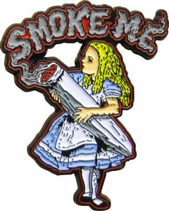 3951-Smoke-Me-Alice-In-Wonderland-Weed-Joint-Gift-Enamel-Pin-Badge-Button-Lapel