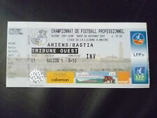 Tickets- 2007 AMIENS v BASTIA,6 November, Football Championship