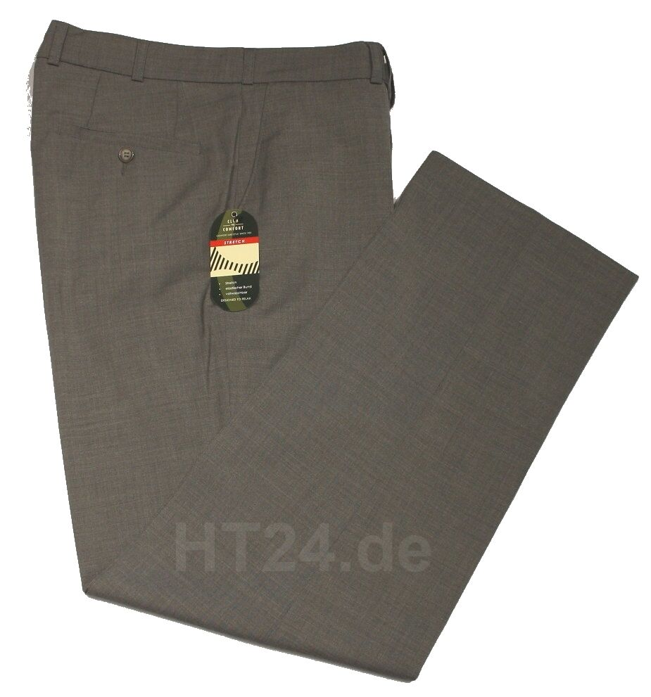 CLUB of COMFORT Kombi-Hose SANTOS 4118 grey Stretch Gr. bis 64   bis 35 leicht