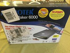 SLIGHTLY USED - Microtek Scanmaker 6000 10.24MPi Scanning  Photo Picture Scanner