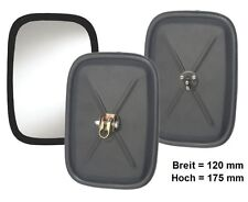 Außenspiegel Zusatz Spiegel Ersatzspiegel Rückspiegel LKW 120x175 mm M6 Gewinde
