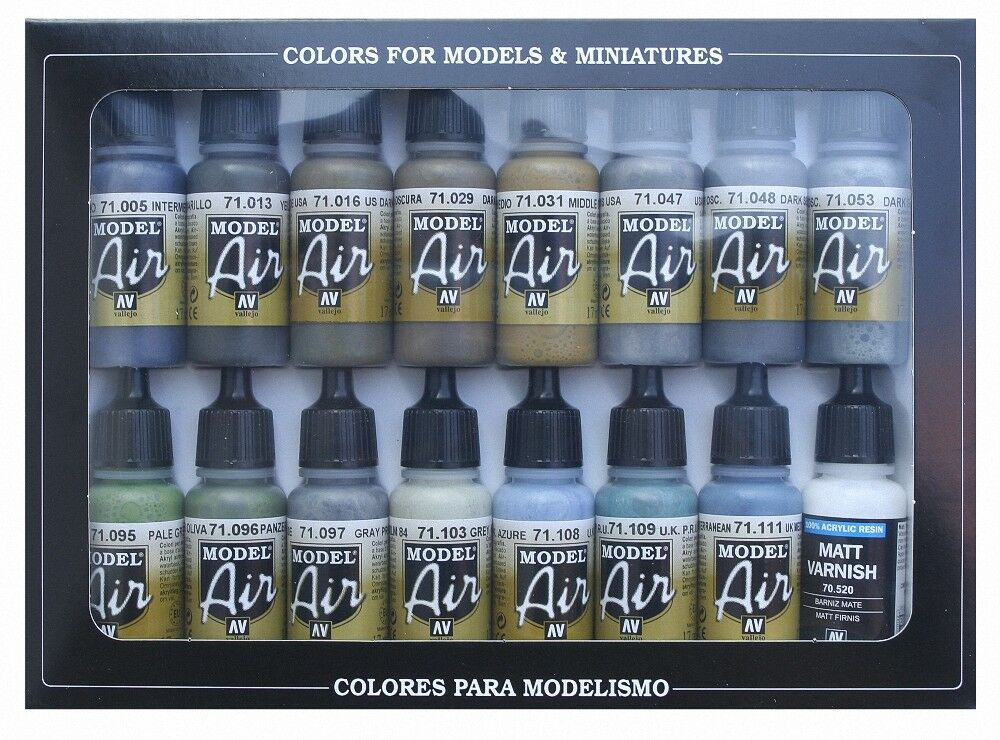 AV Vallejo - WWII British Aircraft Colours RAF FAA Model Air Paint Set