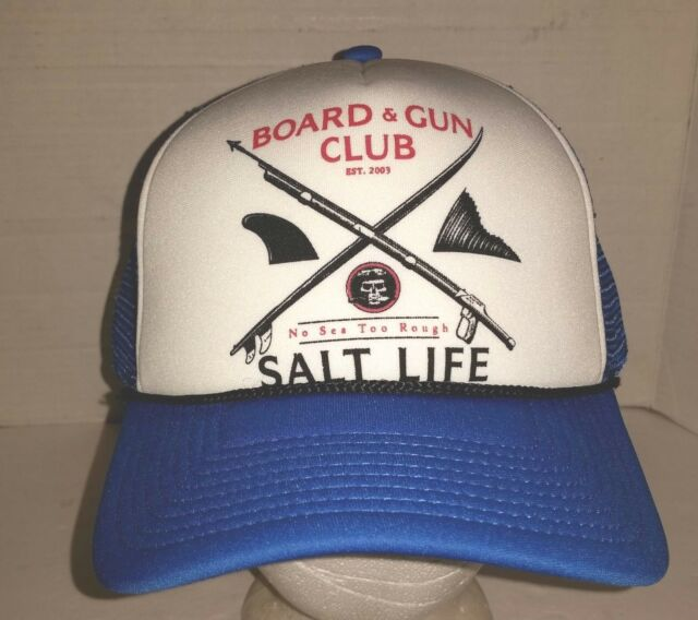 Salt Life Mesh Back Baseball Cap Polyester Blue White Size Fits Most ... 3f501b78549