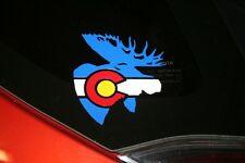 Colorado State Flag Moose Head Die-Cut Sticker