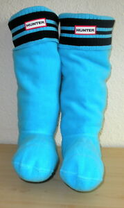 25579b0164b Hunter M Blue Black Stripe Fleece Welly Boot Socks Tall Hunter Boots ...