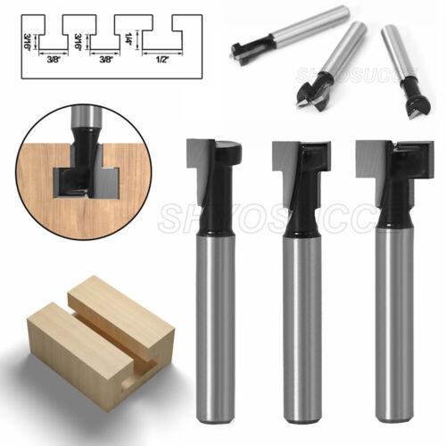 """1//4/"""" Fräser Set Mit 6mm Schaft T Nut Holzfräser Holzbearbeitung Meißel Werkzeug"""