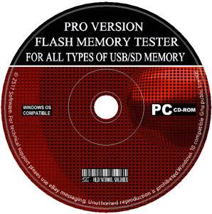 Unita-flash-USB-Scheda-di-memoria-SD-SDHC-test-di-prova-software-Rileva-Falso-USB-SD