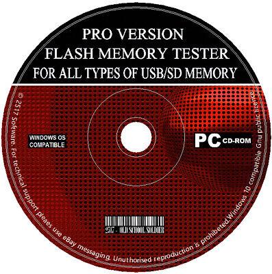 Unità Flash Usb-scheda Di Memoria Sd Sdhc Test Di Prova Software Rileva Falso Usb/sd-