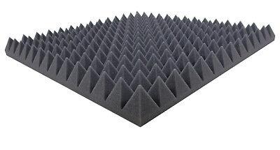 Akustikschaumstoff AKUSTIK LINE Ca.1m/² Pyramidenschaumstoff in 4 cm Selbstklebend Schalld/ämmmatten zur effektiven Akustik Schall D/ämmung