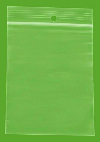 """4 Mil Clear Reclosable Plastic Polybags 3/"""" x 4/"""" Top Seal w// Hang Hole 2000 Packs"""
