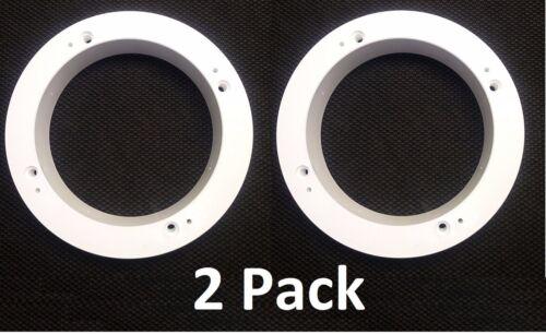 2 Pack of White 1 Plastic Depth Ring Adapter Speaker Spacer for 5.25 - 6 Car