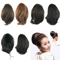 New Hairpiece Large Pony Tail Hair Extensions Scrunchie/Bun Drawstring Ponytail