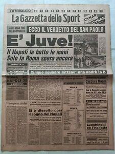 GAZZETTA-DELLO-SPORT-18-5-1981-NAPOLI-JUVENTUS-A-90-039-DALLO-SCUDETTO-GUIDETTI