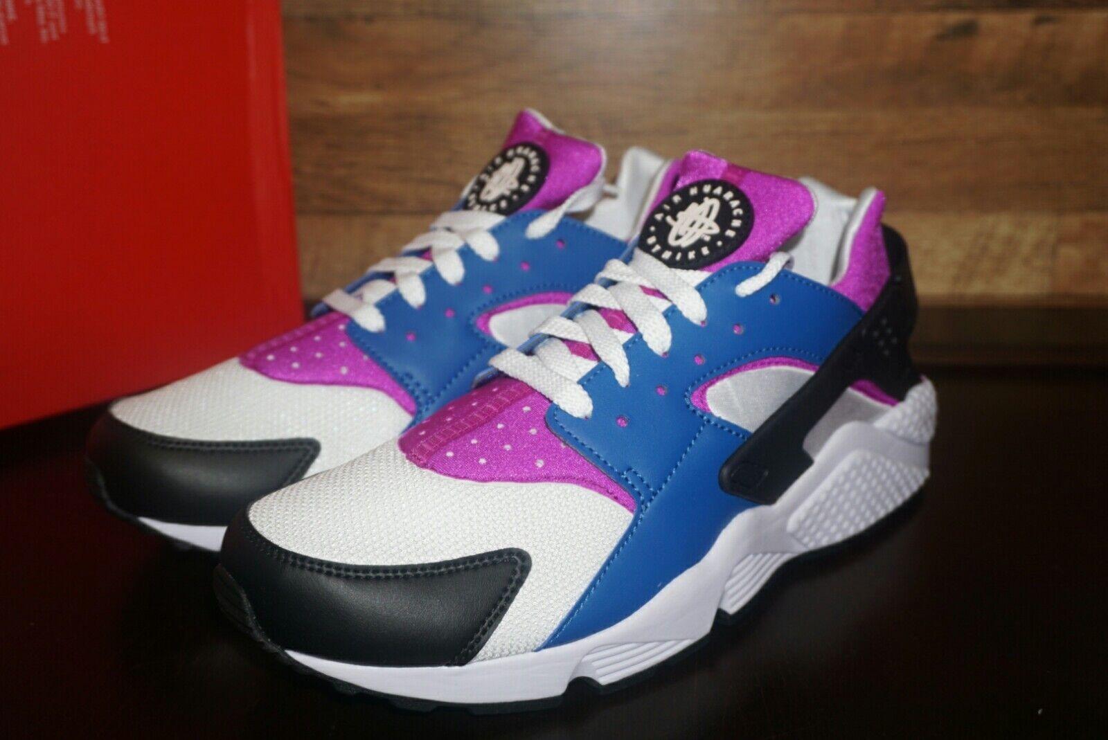 Nike air huarache 318429-415 blue jay nuova dimensione Uomo retrò colorway