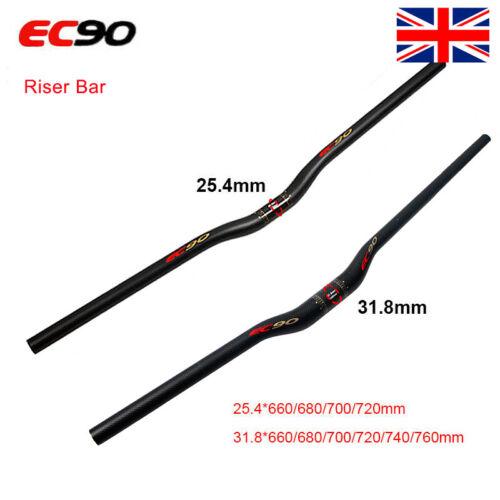 Full Carbon 25.4//31.8mm Bicycle Riser//Flat Bar MTB Mountain Handlebar Ultralight