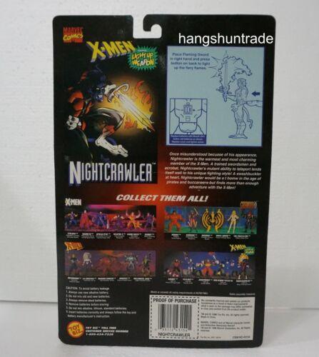 Toy Biz Marvel Comics Classics X-men 1996 Nightcrawler with Flaming Sword