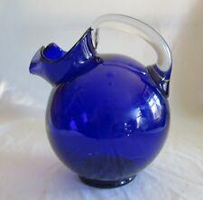 Cambridge 3400/38 Ball Jug Non Optic Cobalt Blue Large Pitcher w/ Applied Handle