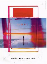 "Publicité Advertising 2002 Parfum ""Chic"" de Carolina Herrera"